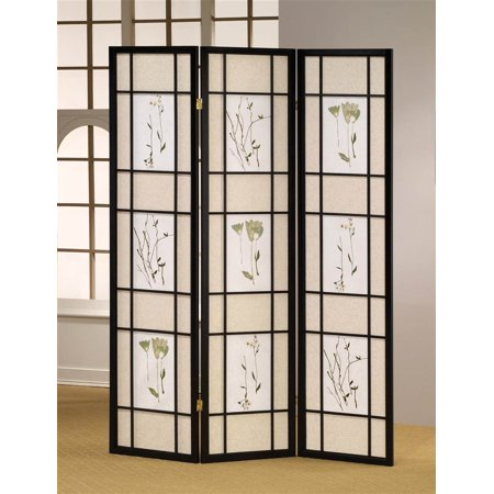 3 Panel Shoji Room Divider Screen In Black
