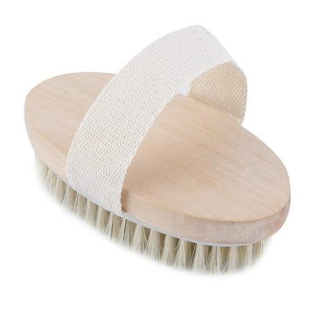 Outgeek Dry Skin Body Natural Bristle Brush Soft SPA Brush Bath Massager Home ()