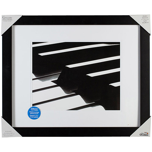 Pinnacle Frame Gallery Mat Frame, 20x16, Black