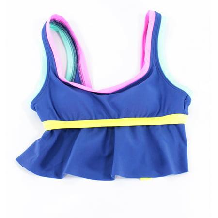 Becca Womens Swimsuit - BCA by Becca Virtue NEW Blue Womens S Colorblock Tankini Top Swimwear