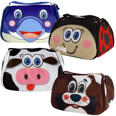 Snack Pets Fun Freezable Lunch Box - Turns into Washable Placemat - Includes Reusable Freezer Pack - Cow
