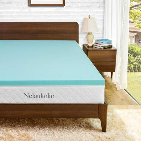 3-Inch 3D Gel Memory Foam Mattress Soft Comfortable Sleep Home Bed Topper Pad ()
