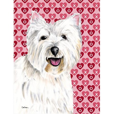 Carolines Treasures SC9269CHF 40 x 40 In. Westie Hearts Love And Valentines Day Portrait Flag Canvas, House Size - image 1 of 1