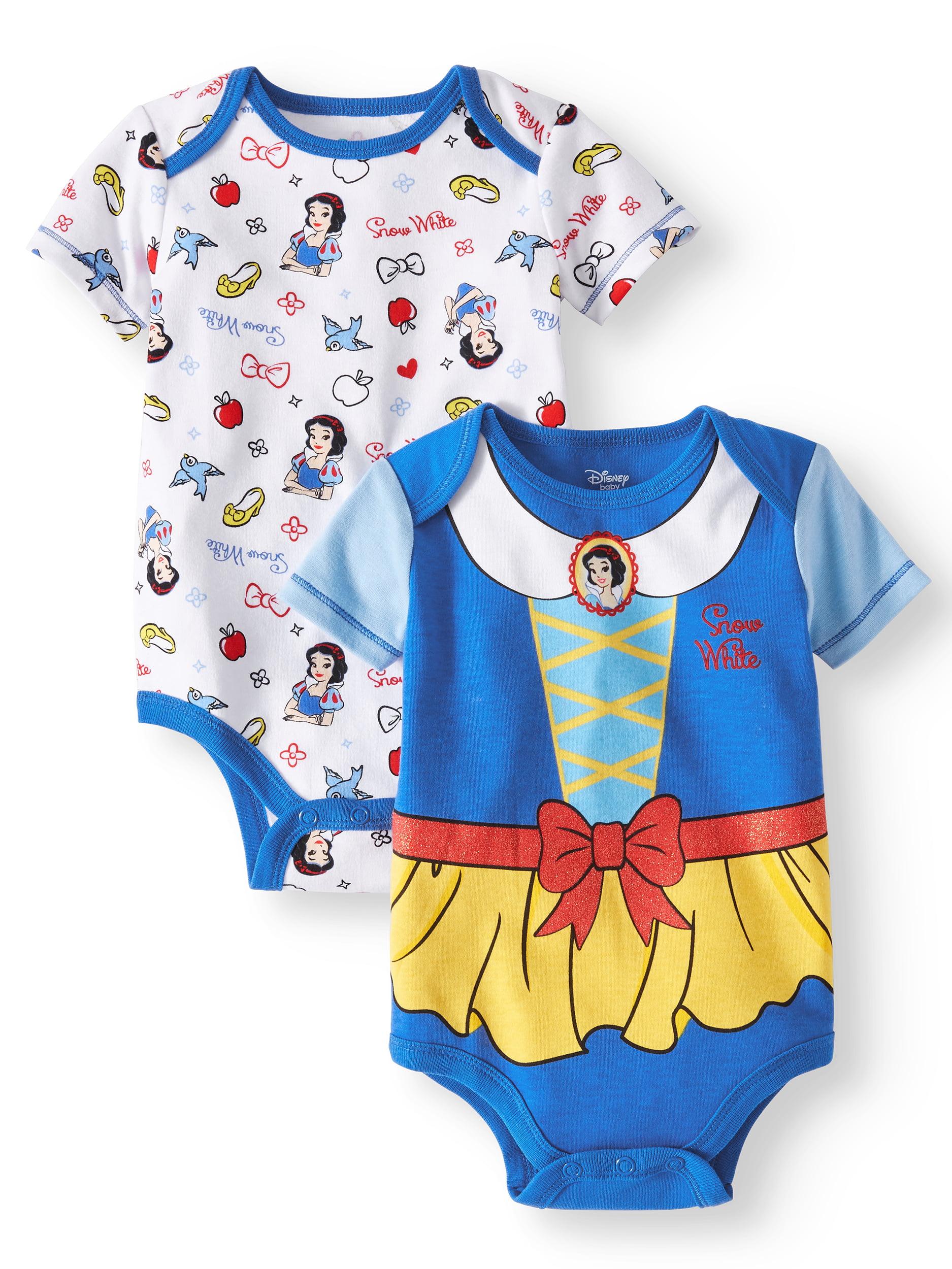 Snow White Graphic Bodysuits, 2-pack (Baby Girls)