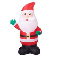 inflatable waving santa
