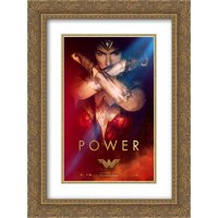 Wonder Woman 18x24 Double Matted Gold Ornate Framed Movie Poster Art Print