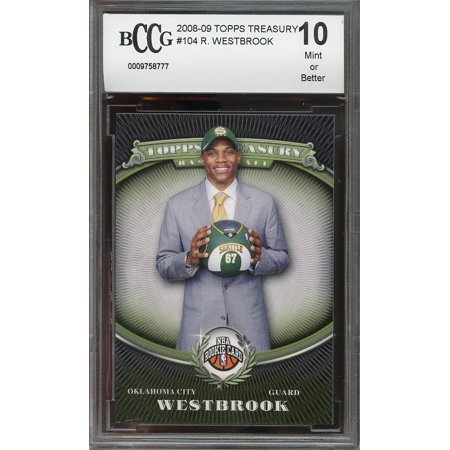2008 09 Topps Treasury  104 Russell Westbrook Okc Thunder Rookie Bgs Bccg 10