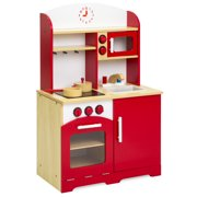 Best Choice Products Kids Wooden Kitchen Cooking Play Set W Pot Pan Accessories