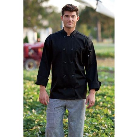 0402-0101 Classic Chef Coat 10 Buttons in Black - -