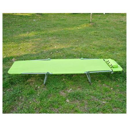 Aluminum Lightweight Outdoor Patio Folding Chaise Lounge Chair - Spring Green