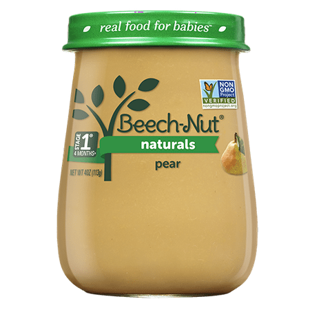 10 Jars Beech Nut Naturals Baby Food Jar Stage 1 Pear