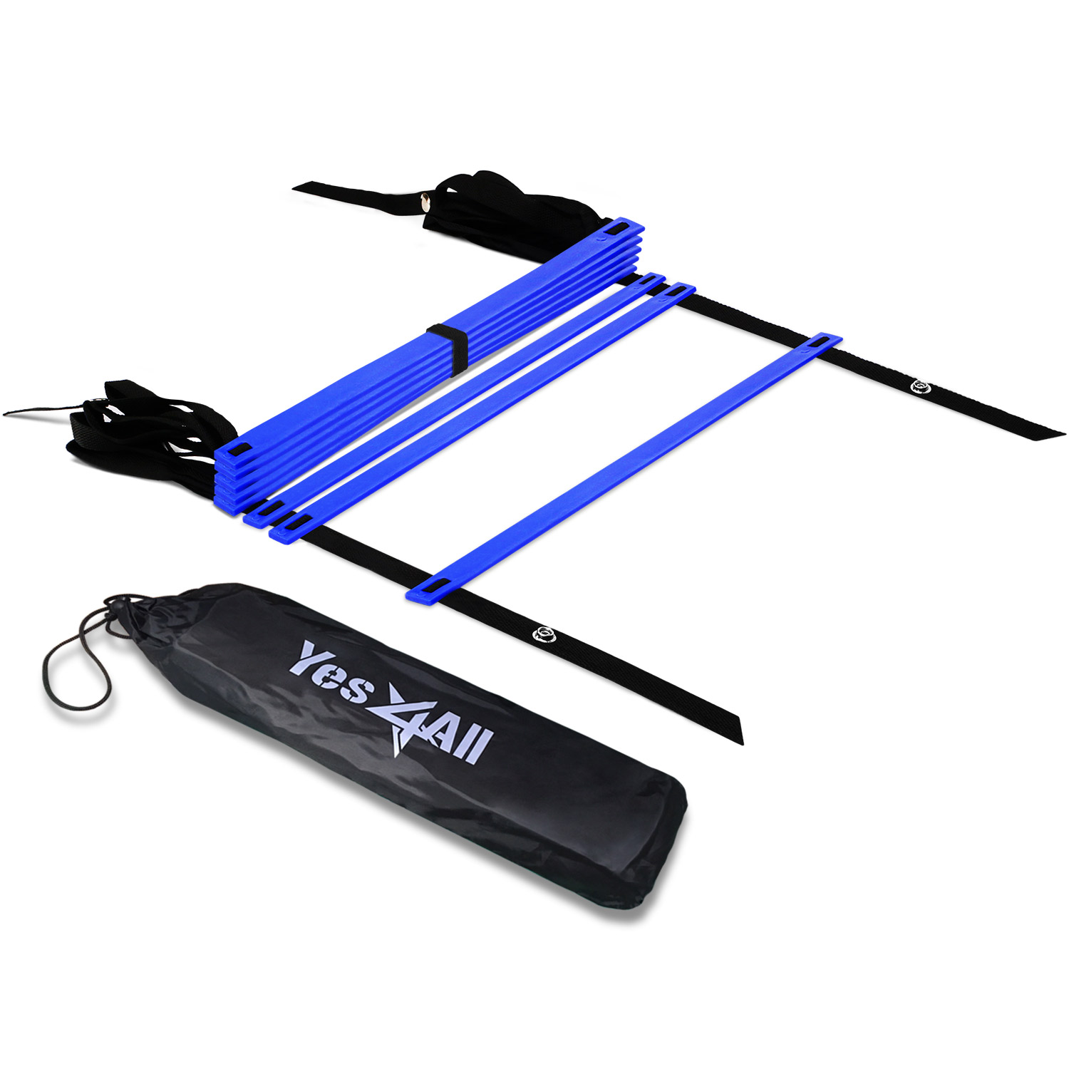 Yes4All Speed and Agility Training Ladder with Carry Bag - 8 Rung (Blue)