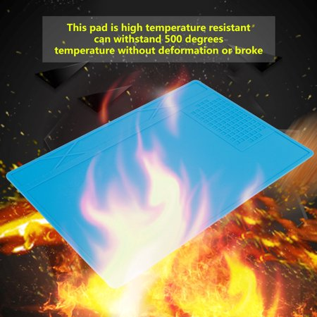 Garosa Coussin à souder, tapis en silicone pour station de réparation de maintenance, support de réparation résistant à la chaleur pour réparation de téléphone, tapis à souder - image 6 de 6