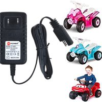 PKPOWER 6.6ft Cable B Charger adapter 6V 1A for ride on car PACIFIC CYCLE Disney Quad 4 wheeler Power Supply Cord(not fit Model: KT1278WM)