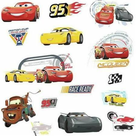 Disney Pixar Cars 3 Peel & Stick Wall Decals - Disney Car Decals