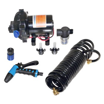 Washdown Pump Kit 60PSI 5GPM 12V Hose/Nozzle and FittingsPro #: WDKIT50 X-Ref #: