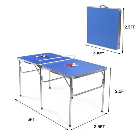 60'' Portable Table Tennis Ping Pong Folding Table w/Accessories Indoor Game - image 3 of 10