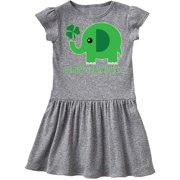 Happy St Patricks Day Elephant Toddler Dress