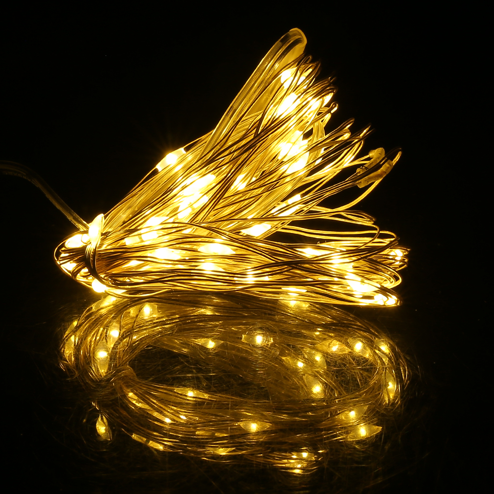 6m 60 Led Bright Silver Wire String Light Fairy Lamp Christmas Party 8 Function Qty