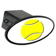 """Tennis Ball - Sports 2"""" Oval Tow Trailer Hitch Cover Plug Insert"""