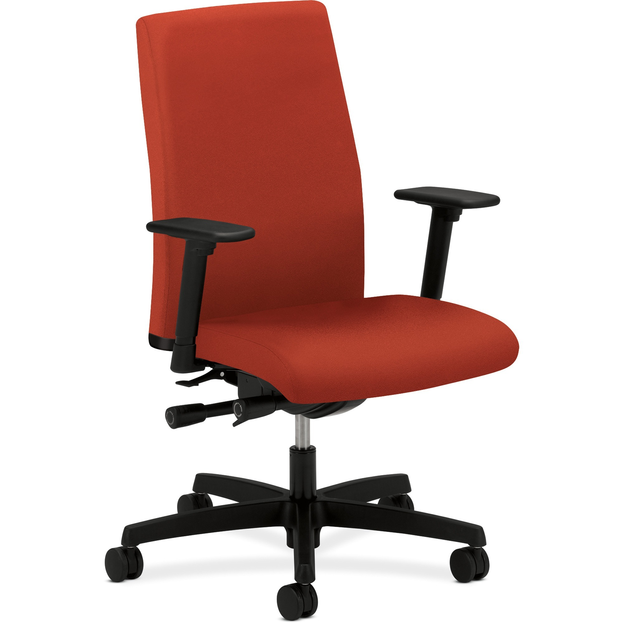 HON, HONIW104CU42, Ignition Mid-Back Task Chair, Arms, 1 Each, Crimson Red