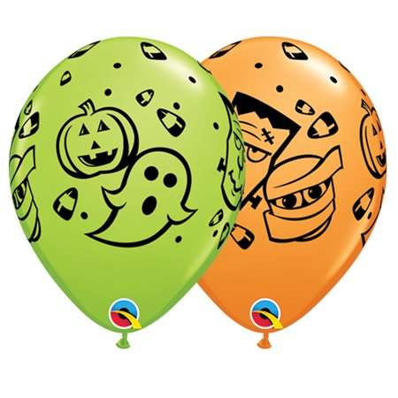 Halloween Pumpkin Balloon Game (Qualatex Halloween Ghost Pumpkin Mummy 11