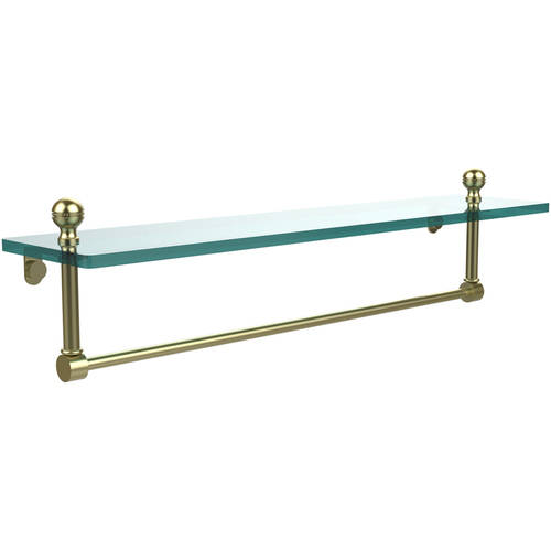 "Mambo 22"" Glass Vanity Shelf with Integrated Towel Bar (Build to Order)"