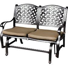 Heritage Outdoor Living Nassau Cast Aluminum Bench Glider