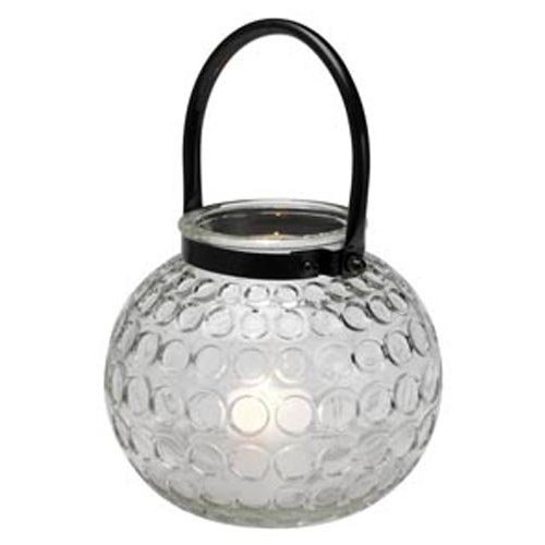 Biedermann & Sons Glass Dot Design Globe Lantern Candle Holder
