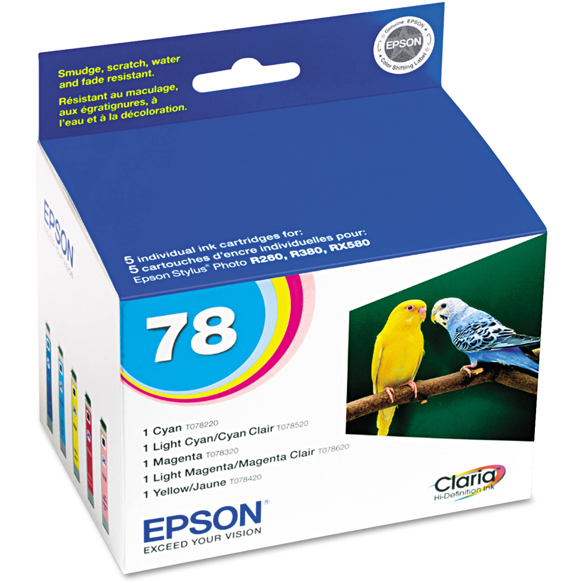 Epson T078920 Claria Hi-Definition Color Multi-Pack Ink Cartridge by Epson