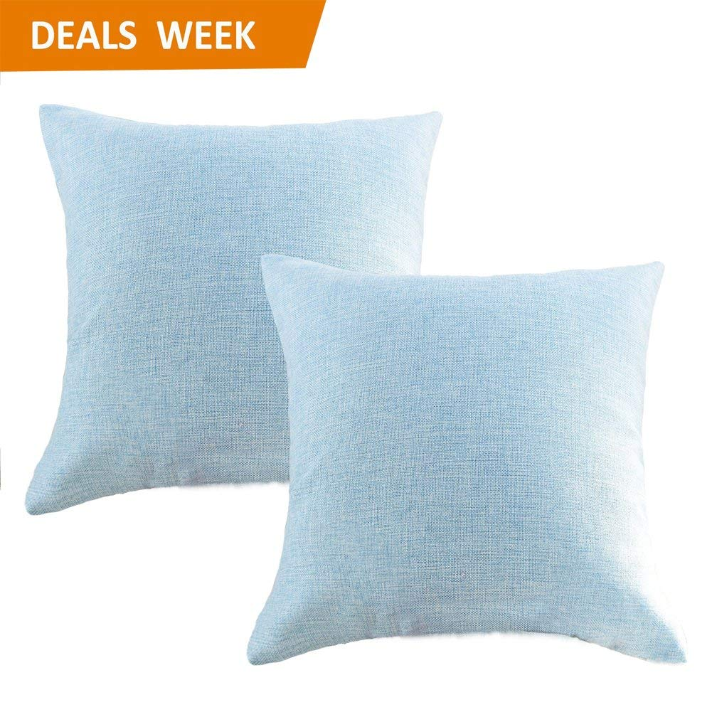 Linen Pillow Covers 20 X 20 Inch Sets Of 2 Decorative Square Throw