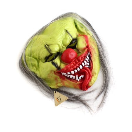 Green CLOWN COSTUME MASK Latex Horror Christmas Party Fancy Dress Costume Props - Latex Clown