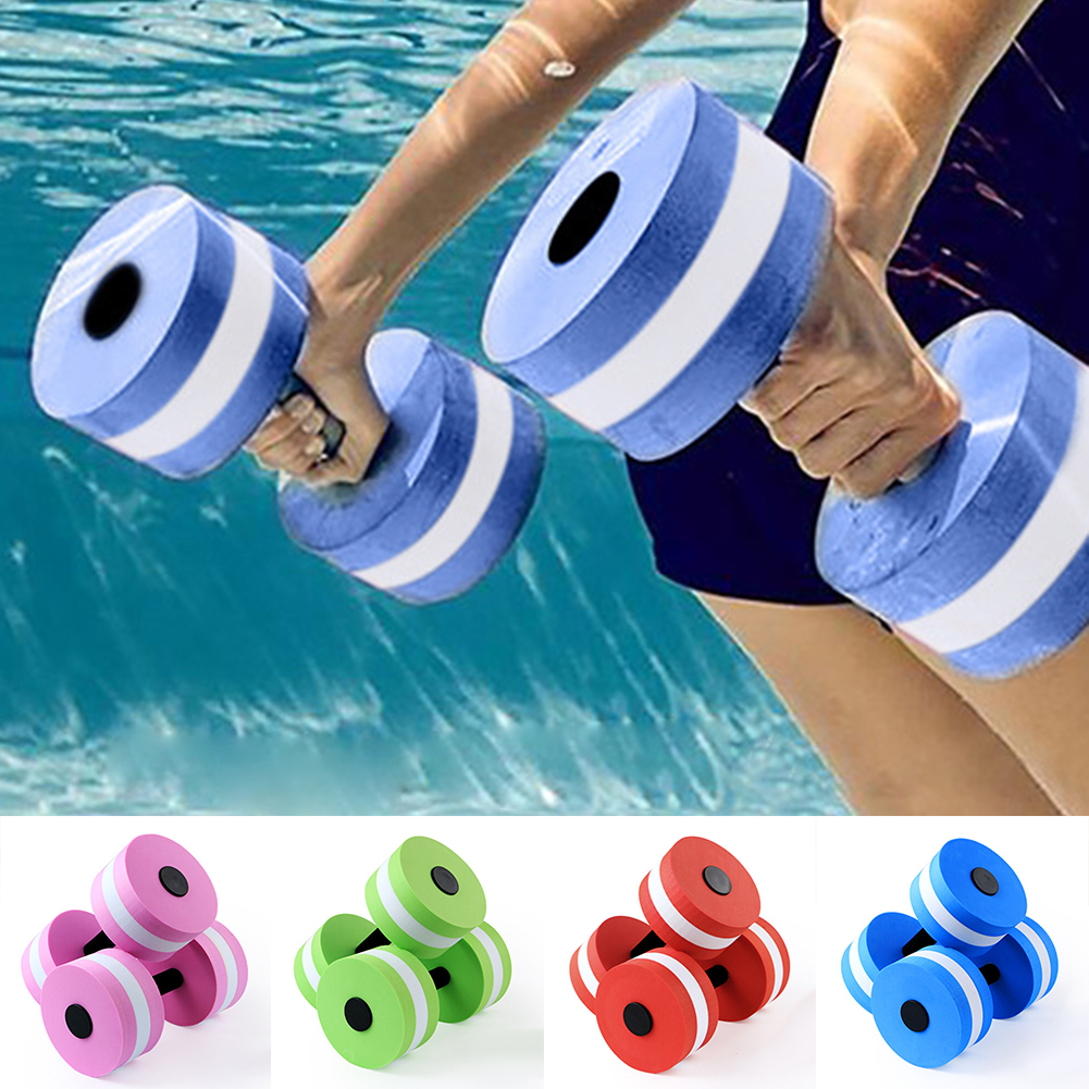 Heepo 1Pc Water Aerobics Aquatic Dumbbell EVA Yoga Barbell Exercise Fitness Equipment