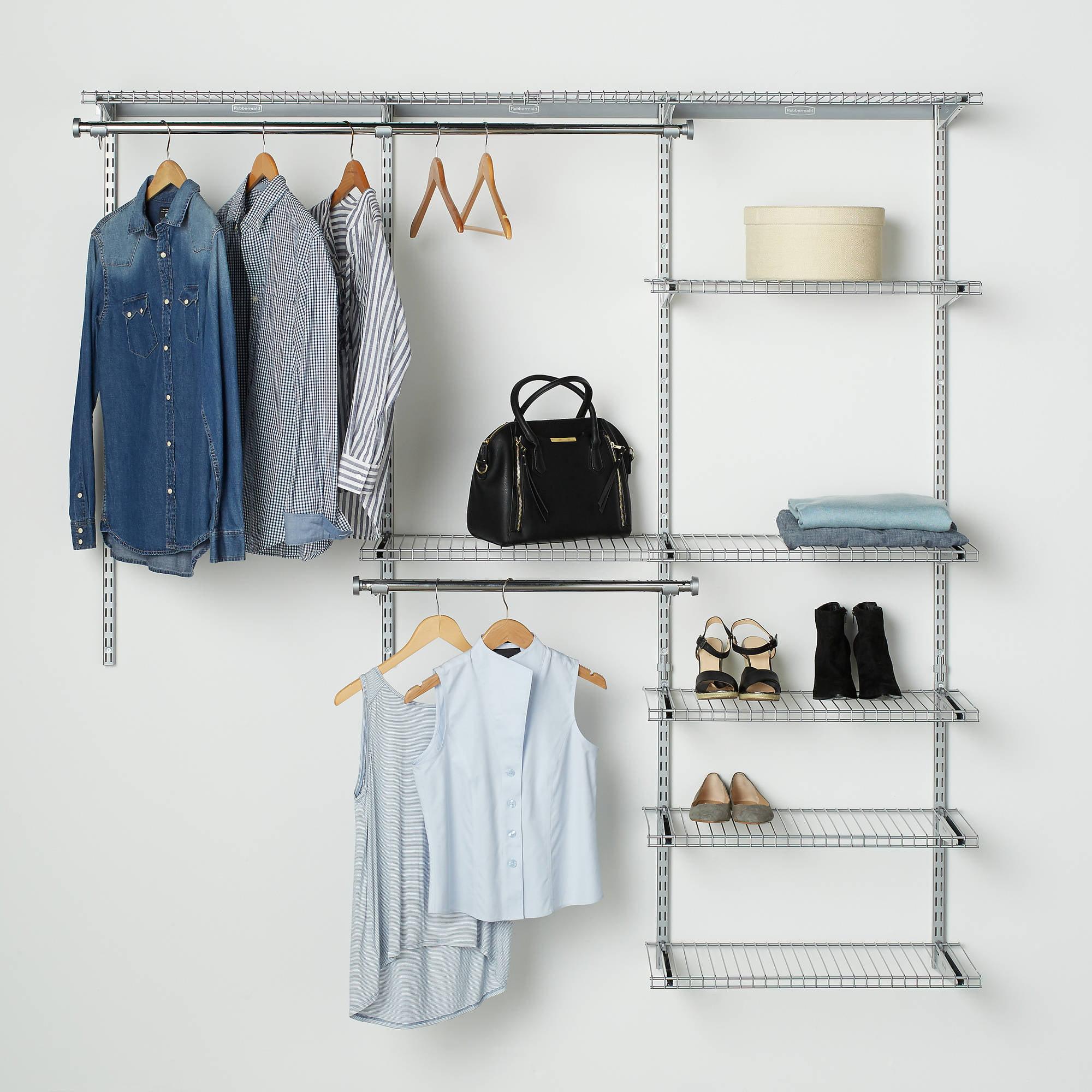 Rubbermaid configurations closet kits 3 6 deluxe titanium