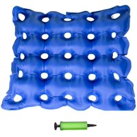 Air Self Inflatable Waffle PVC Cushion Seat Pad Medical Hemorrhoids + Free Pump