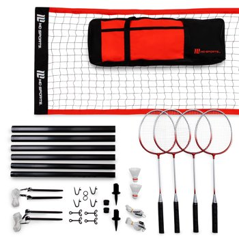 MD Sports Advanced Outdoor Badminton Set, Lawn Game