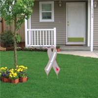 Diabetes Awareness Ribbon Yard Sign with Stakes