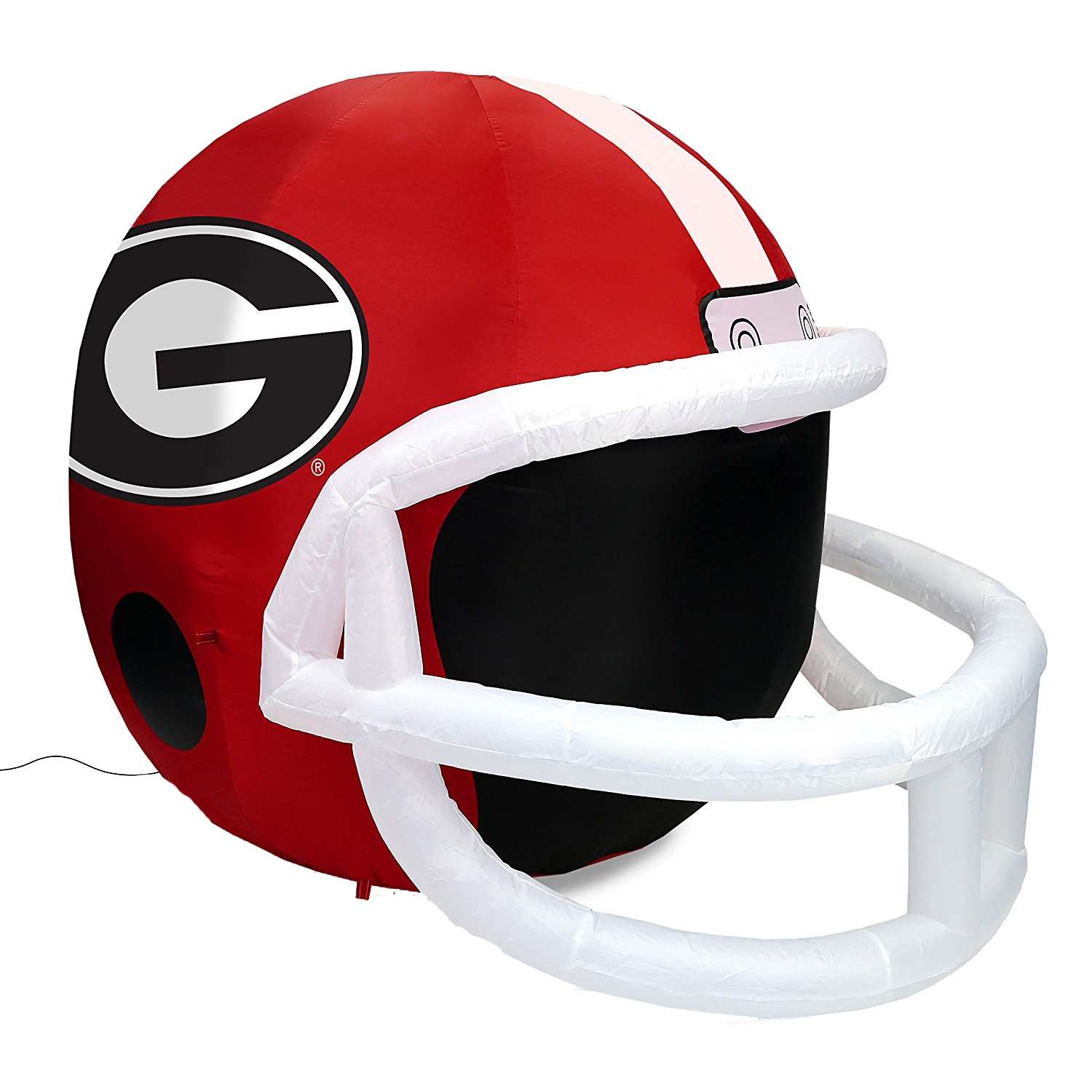 NCAA Georgia Bulldogs Team Inflatable Lawn Helmet, Red, One Size