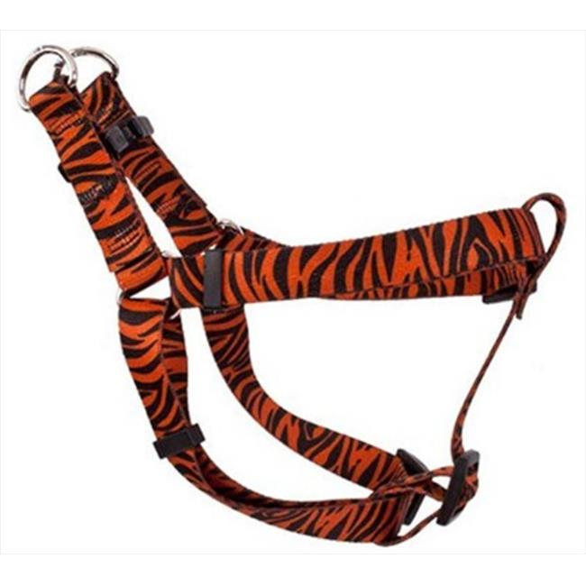Yellow Dog Design SI-ZBR103L Zebra Rust Step-In Harness - Large