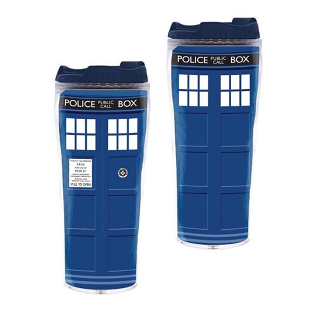 Doctor Who TARDIS 12oz. Insulated Travel Mug