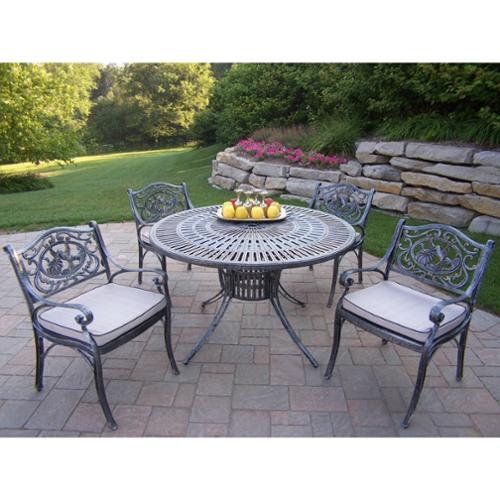 Sundance Cast Aluminum 48-inch Table 4-chair 5-piece Dining Set