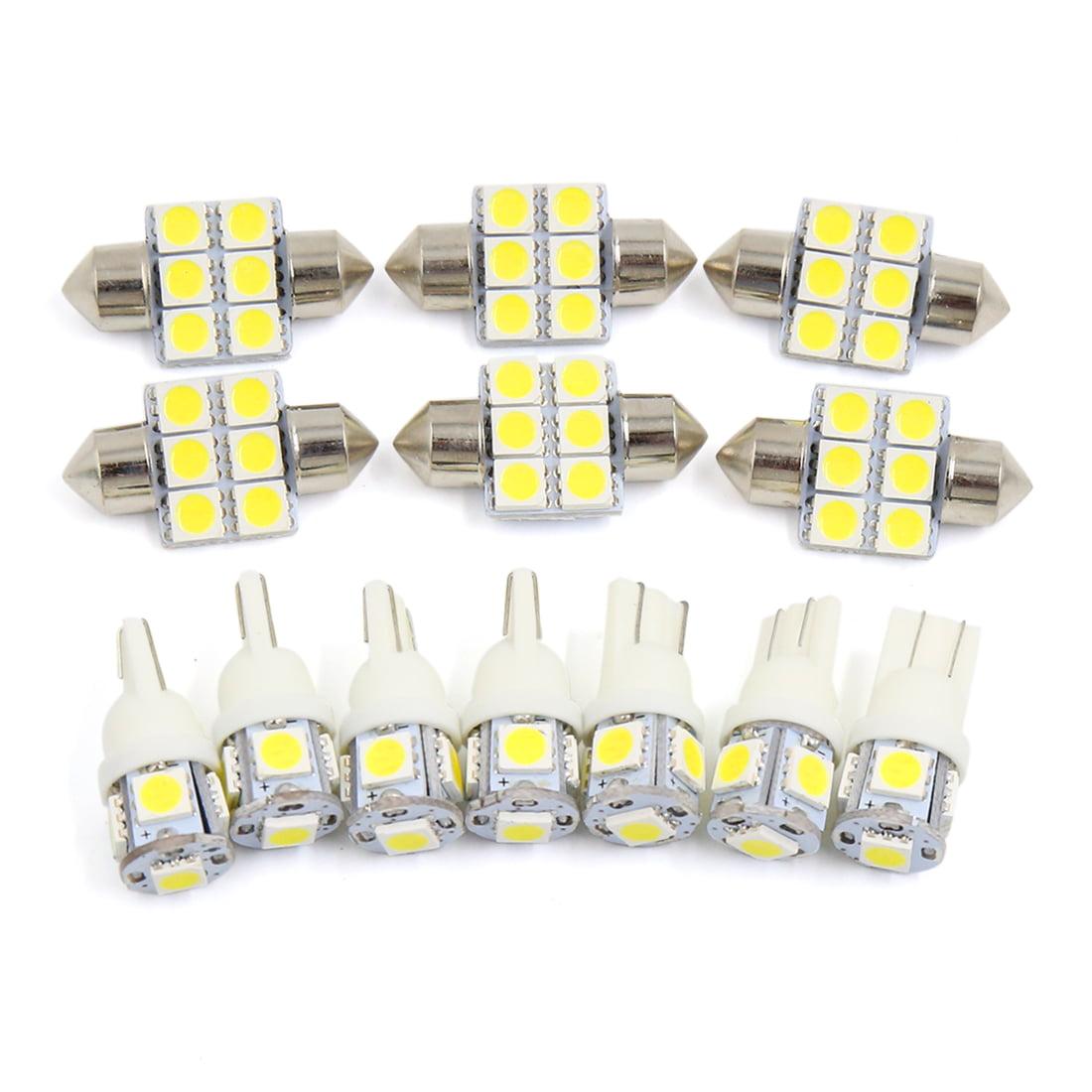 13x For  4Runner 2003-2012 White Car Interior Dome Map Step  Light Kit