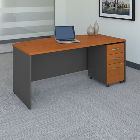 Bush Business Furniture Series C 72 in. Bow Front Desk with Mobile File Cabinet and Optional Hutch ()