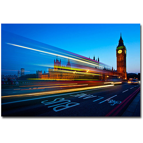 "Trademark Art ""London, Big Ben"" Canvas Art by Nina Papoirek"