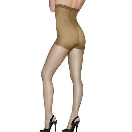 - Silk Reflections Women's High Waist Control Top Sandalfoot Pantyhose, Ltl