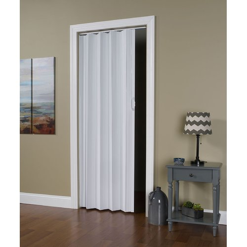 Homestyles Regent Vinyl Accordion Door 36 Quot X 80 Quot White