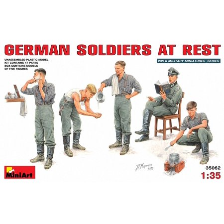German Soldiers At Rest Figure Set 1:35 Scale Military Model Kit, Miniart  German soldiers at rest By MiniArt Ship from US