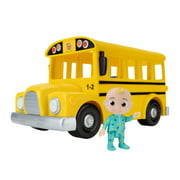 CoComelon Official Yellow JJ School Bus with Sound, 10IN Feature Vehicle with 3in Figure