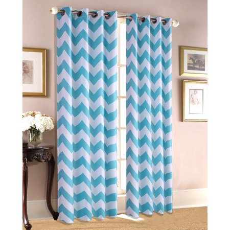 Empire Home Chevron Print 100% Thermal Insulated Blackout Window Curtain Panel 84