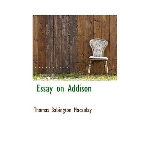 Essayist with addison
